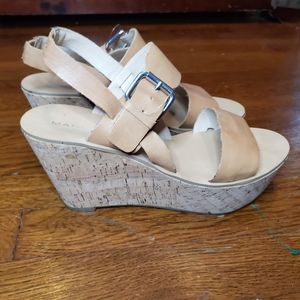 Marc Fisher Oralie Wedges Leather Cork